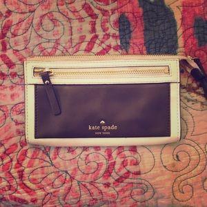 Genuine Leather Kate Spade mini purse (wristlet)